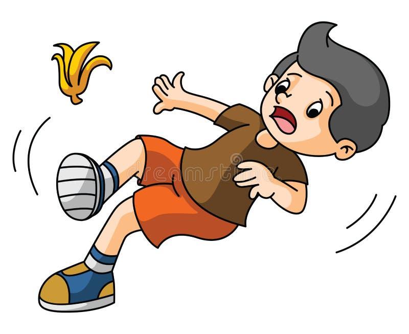 Boy slips. Ilustrator design .eps 10 stock illustration
