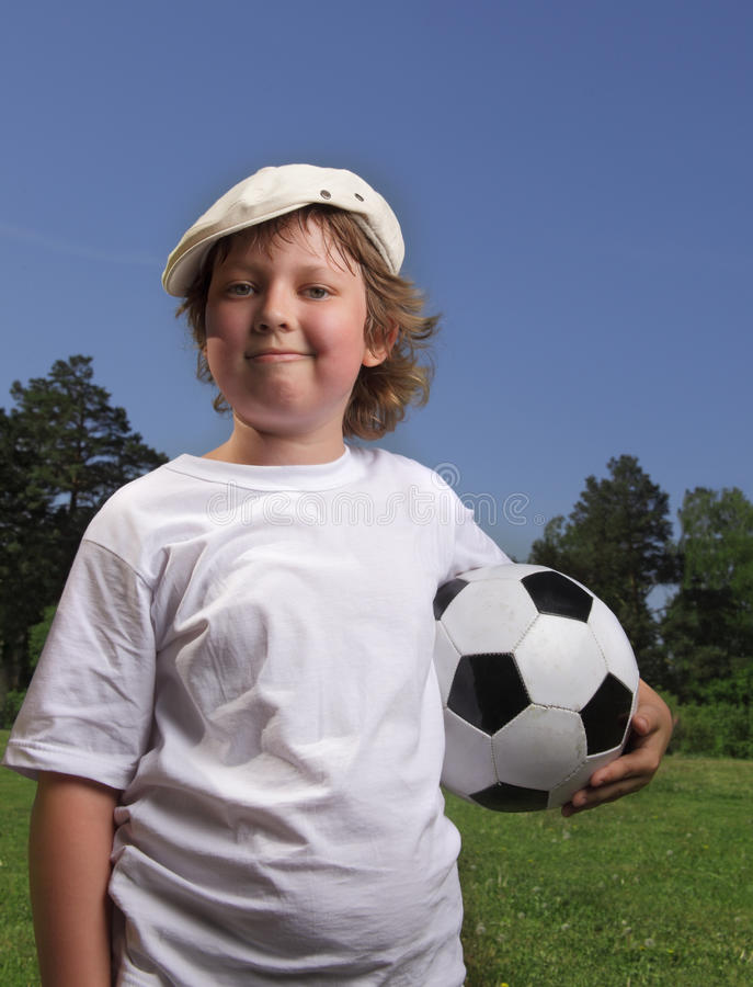 Download Boy with soccer ball stock image. Image of boys, blue - 25376099