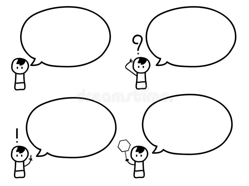 Boy with speech bubbles