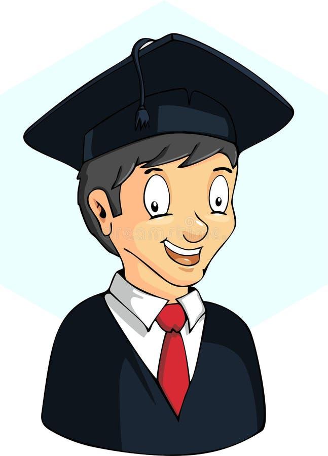 Boy student graduating. stock illustration