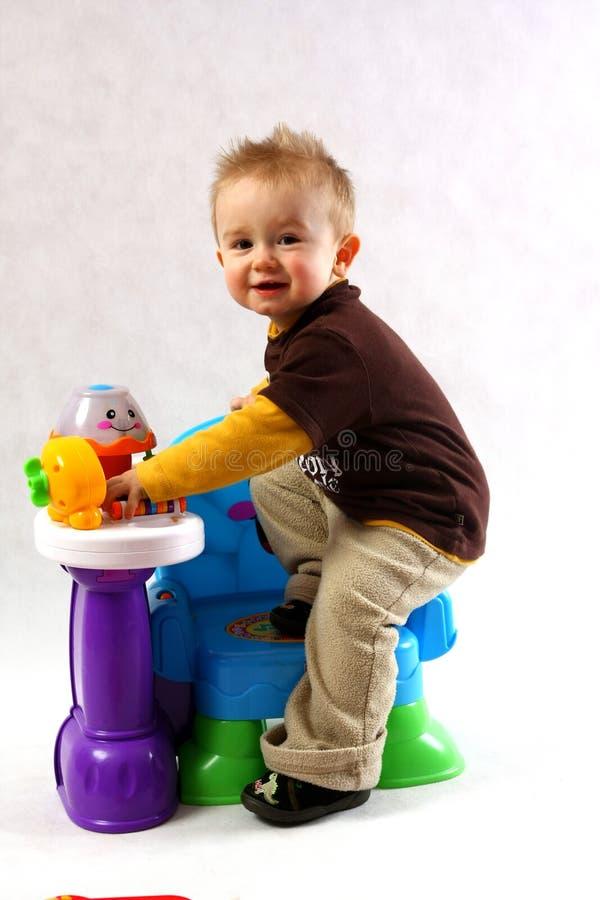 Boy in the studio royalty free stock photos