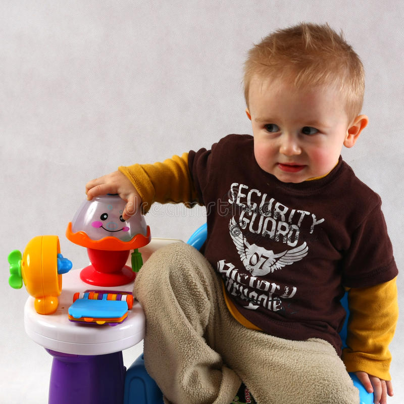 Boy in the studio royalty free stock images
