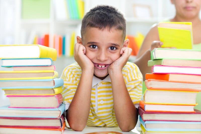 Boy studying royalty free stock photos