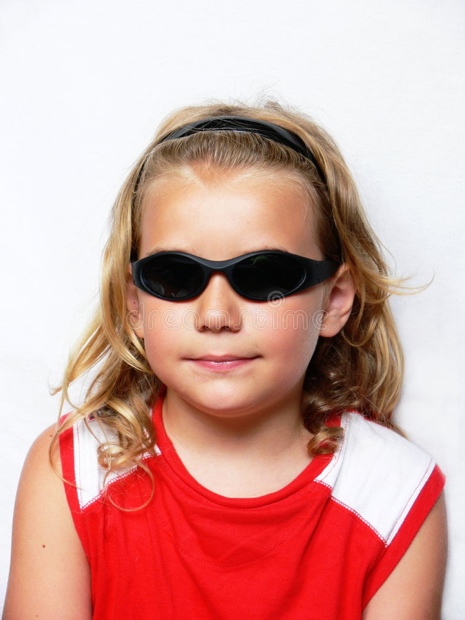 Boy With Sunglasses Royalty Free Stock Photos