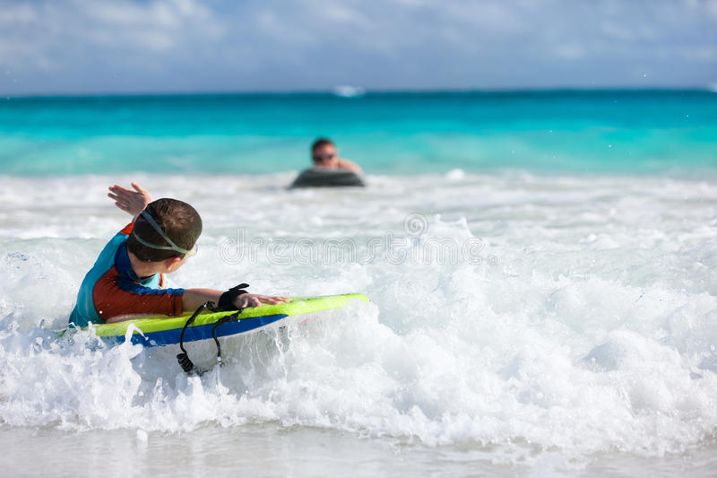 Download Boy Swimming On Boogie Board Stock Photo - Image: 40978898