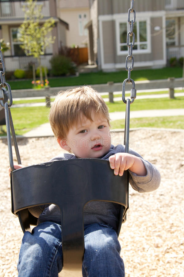 Download Boy on a swing stock image. Image of swinging, little - 20619137