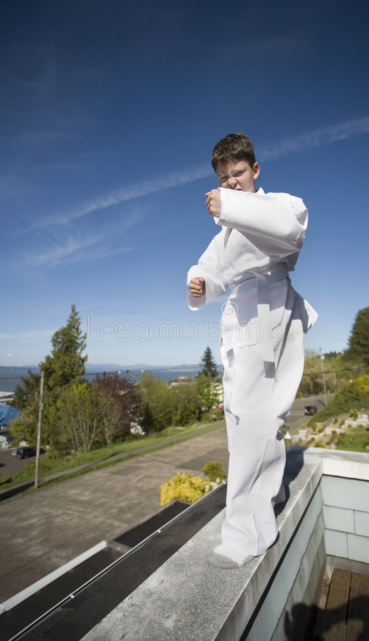 Download Boy in Tae Kwon Do suit stock photo. Image of youthful - 729714