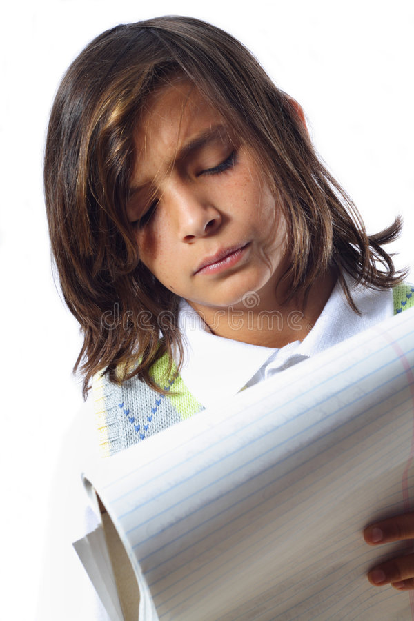 Download Boy Taking Notes stock photo. Image of writing, student - 5381242