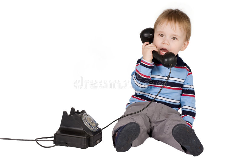 Boy talking royalty free stock photo