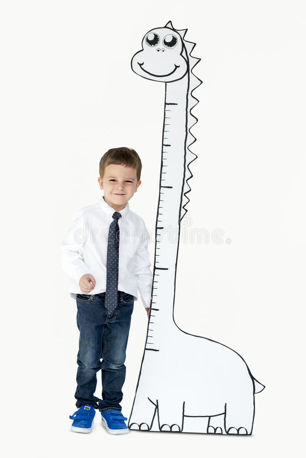 Boy Tall Measure Increase Growth Scale royalty free stock photo