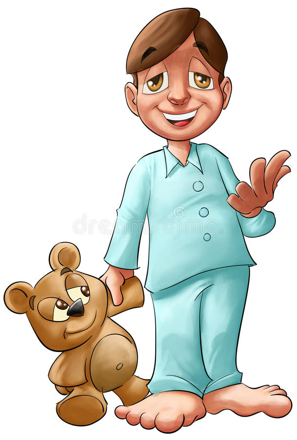 Boy With Teddy Bear Royalty Free Stock Images