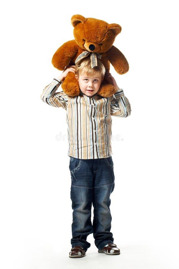 Boy With Teddy Bear Royalty Free Stock Photos