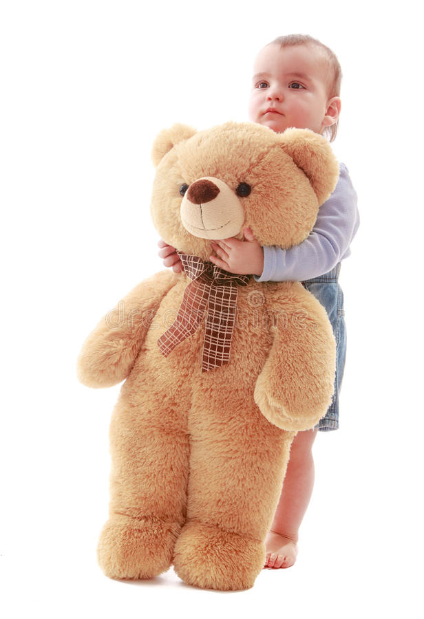 Boy with Teddy bear royalty free stock photography