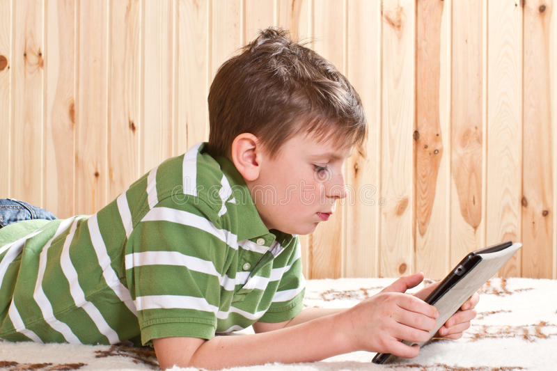 Download Boy Teenager With Tablet Computer Stock Image - Image: 29070497