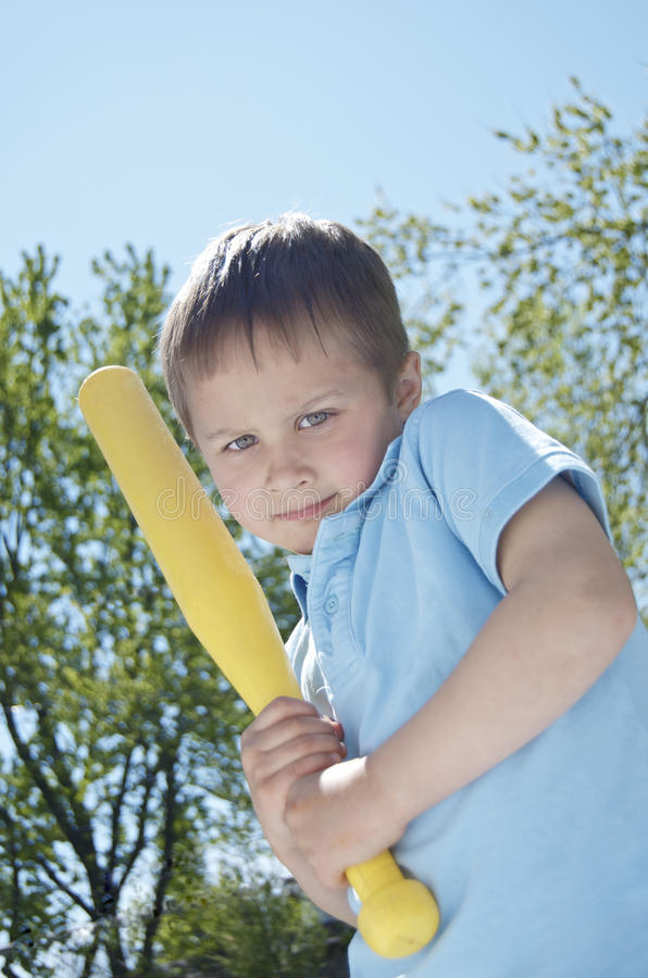 Download Boy Thinking About Swinging His Bat Stock Photo - Image: 28646076