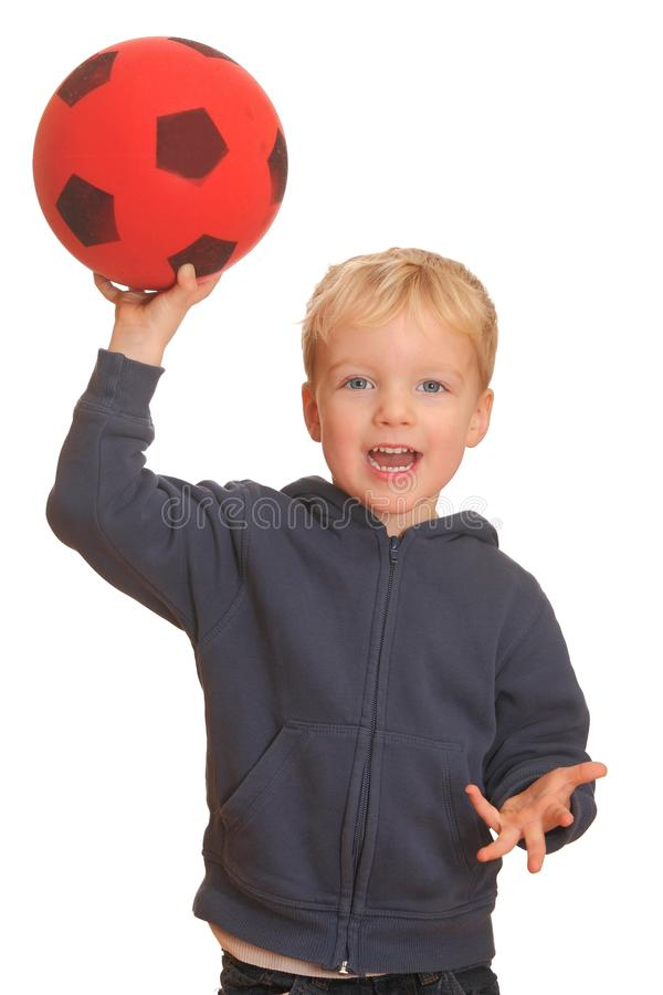 Boy throwing a ball stock images