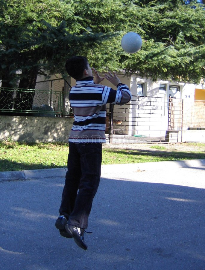 Download Boy throwing the ball stock image. Image of boys, male - 464165