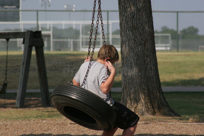 Download Boy On Tire Swing Royalty Free Stock Images - Image: 189599