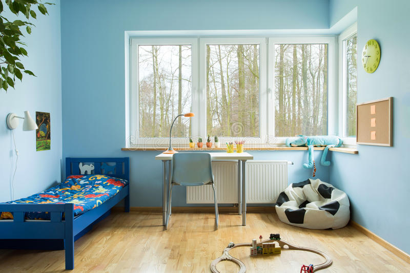 Boy toddler room royalty free stock images