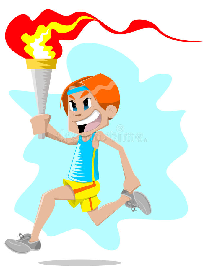 Download Boy with torch stock vector. Image of cute, background - 18775136