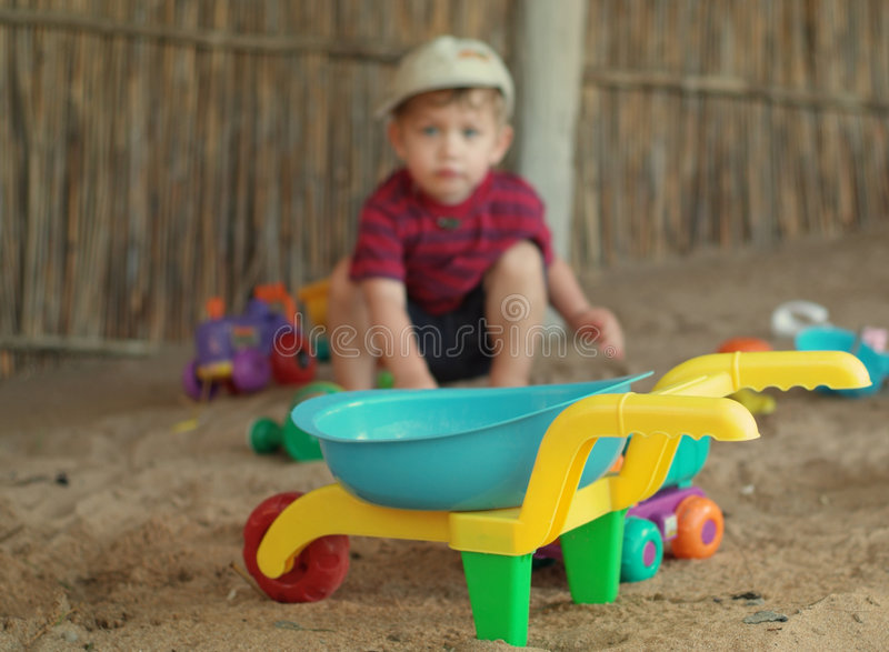 Download Boy and toys on beach stock image. Image of blue, beach - 2362823