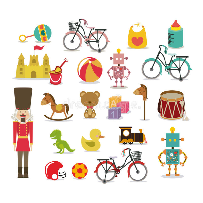 Boy toys royalty free illustration