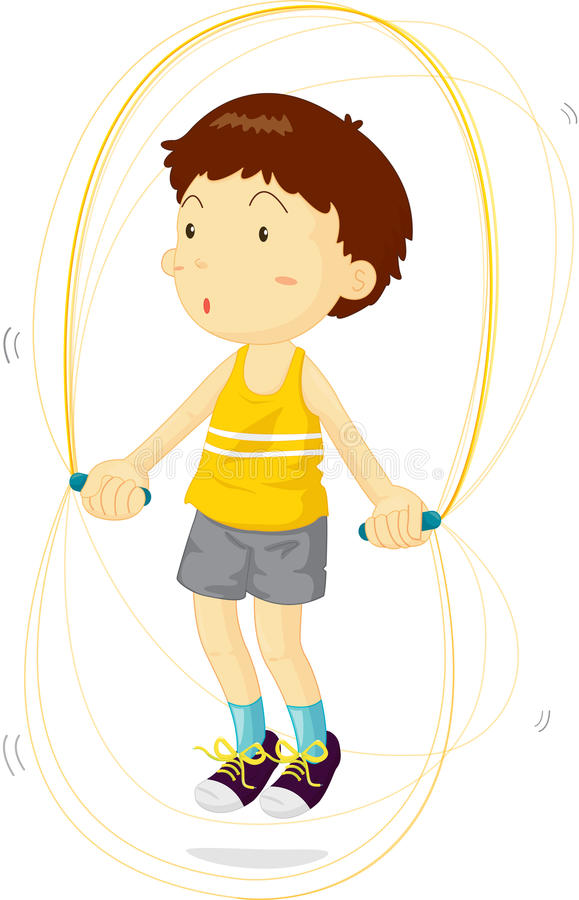 Boy in training royalty free illustration
