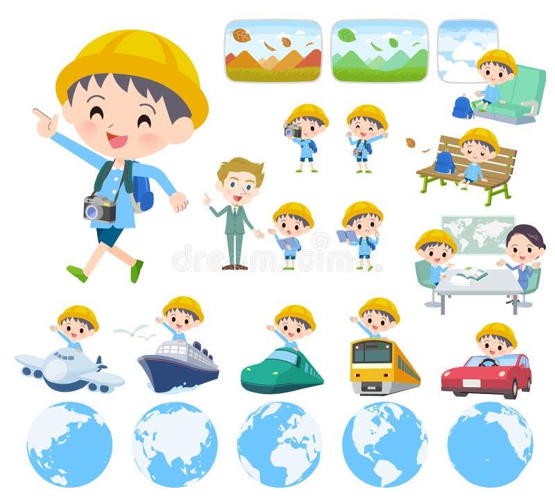 Boy_travel de la guardería stock de ilustración