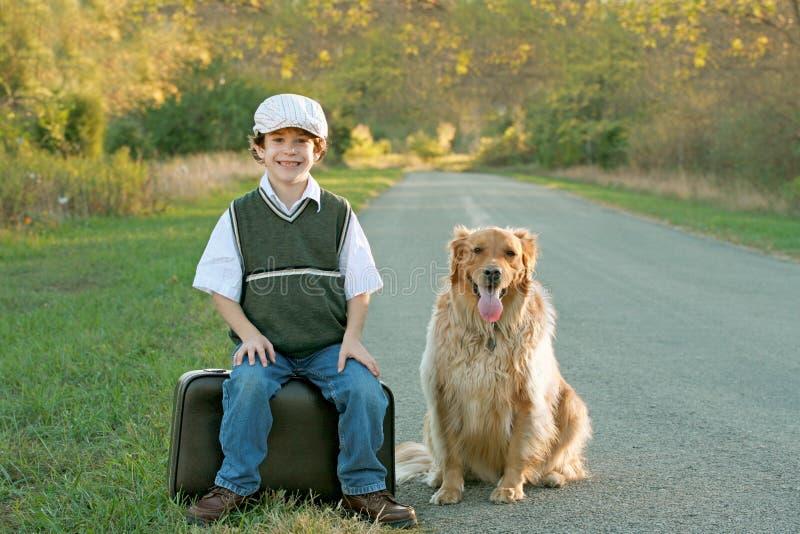 Boy Traveling stock image