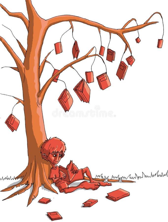 Boy_tree ilustración del vector