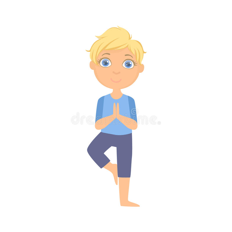 Boy In Tree Pose Stock Vector Illustration Of People 72200468 One of yoga's biggest benefits is that it helps you build better balance, which helps with any number of other physical activities. tree pose stock vector illustration