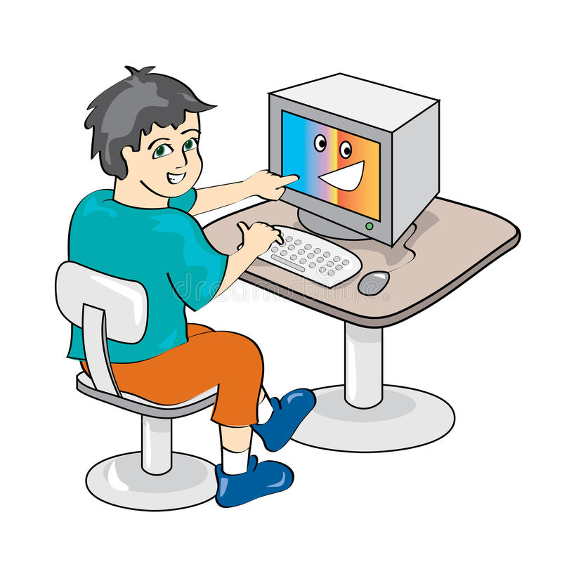 Download Boy Using A Computer Stock Photography - Image: 26615342