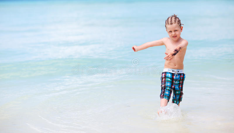 Download Boy on vacation stock photo. Image of water, leisure - 15386198