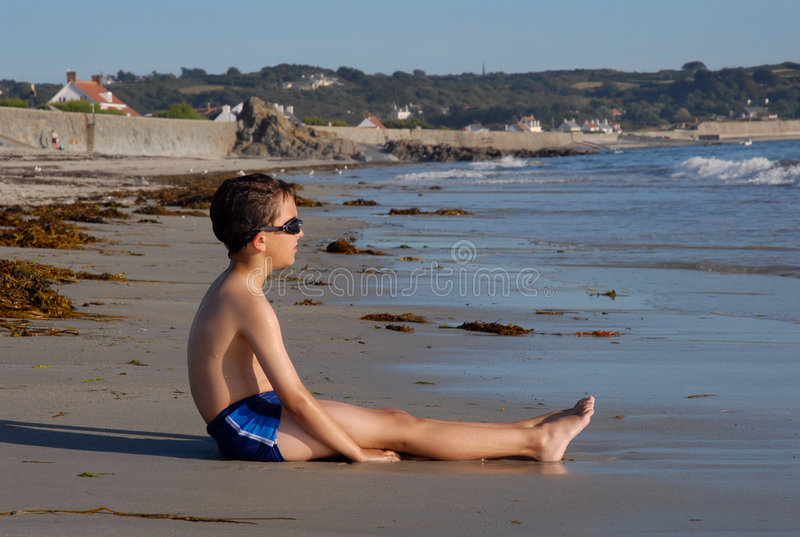 Boy Waiting for the Tide