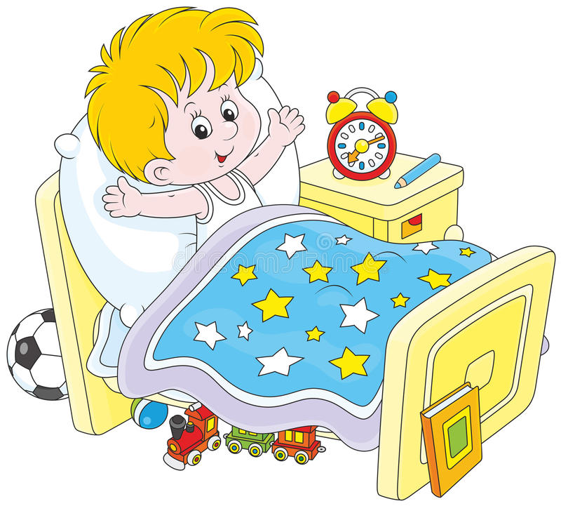 Free Boy Waking Up Royalty Free Stock Photography - 55056397