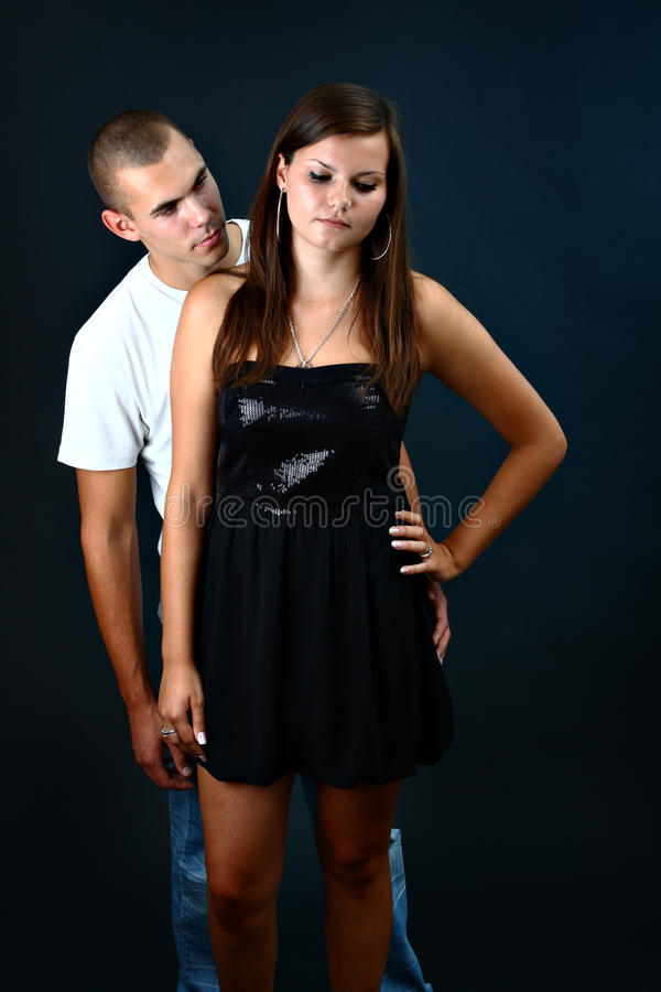 Download Boy Wants His Upset Girlfriend To Forgive Him Stock Image - Image: 20978471