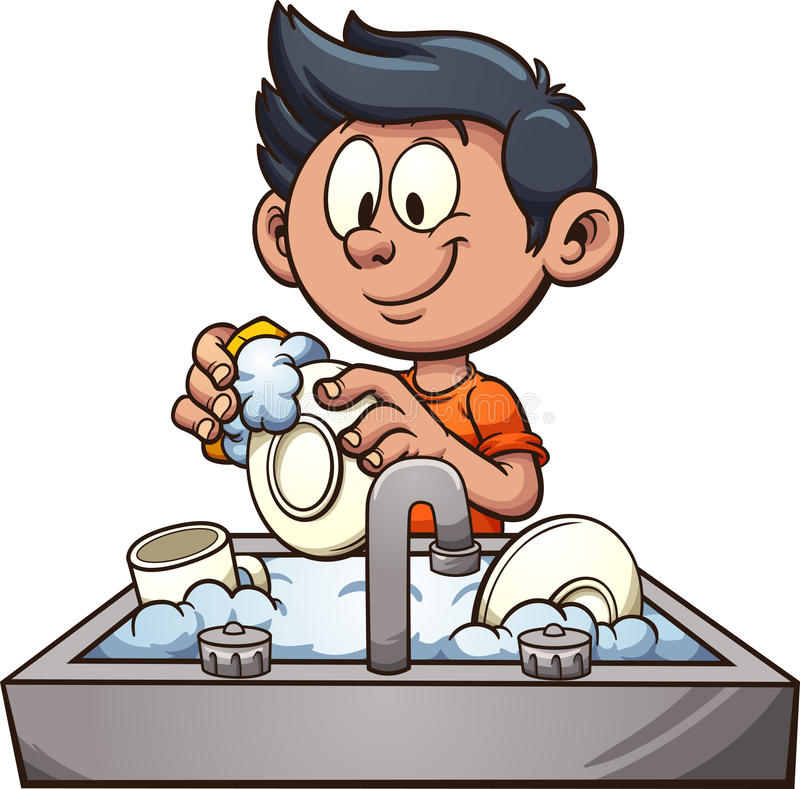boy washing dishes stock vector illustration of soap coffee pot clipart free Free Clip Art Tea Pot