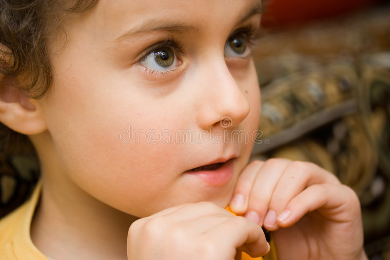 Download Boy watching TV stock image. Image of staring, close, observant - 4214933
