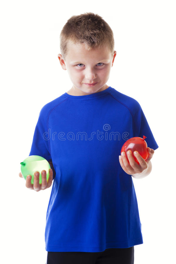 Download Boy with water balloons stock image. Image of play, caucasian - 28458951