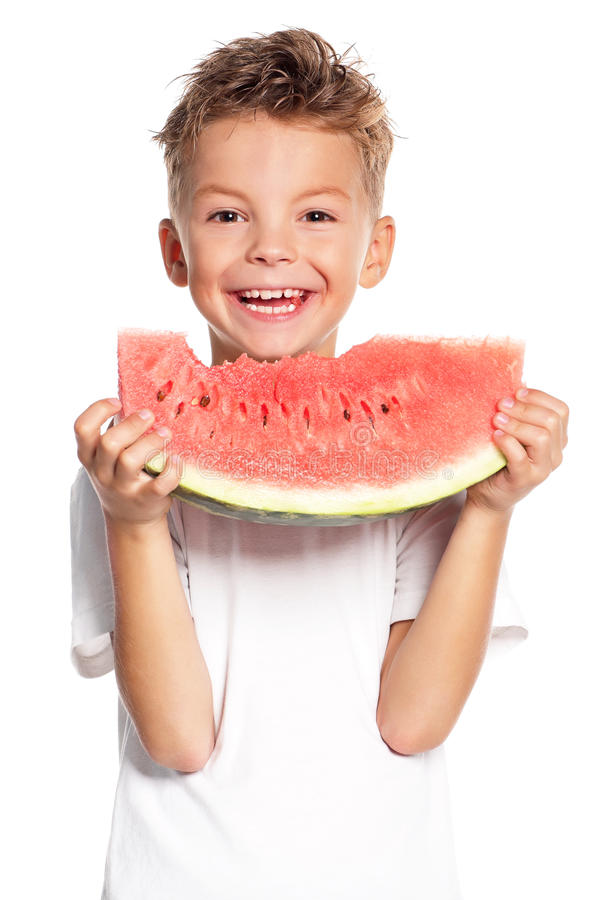Download Boy with watermelon stock photo. Image of cute, fresh - 28930718