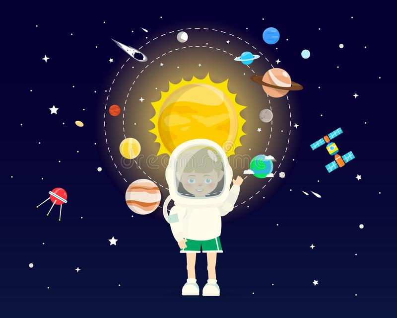 Boy wear Space Sets in Cosmic Concepts. vector illustration