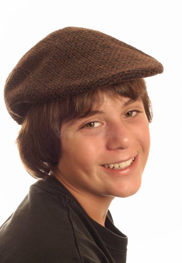 Boy Wearing Flat Cap Stock Photography