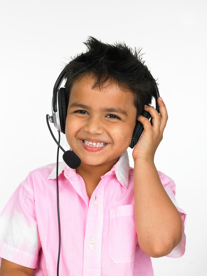 Free Boy Wearing Head Phones Stock Photos - 6298303