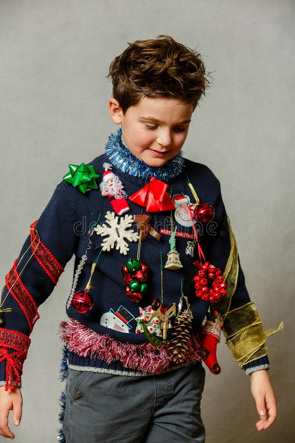 Homemade ugly christmas sweater royalty free stock image