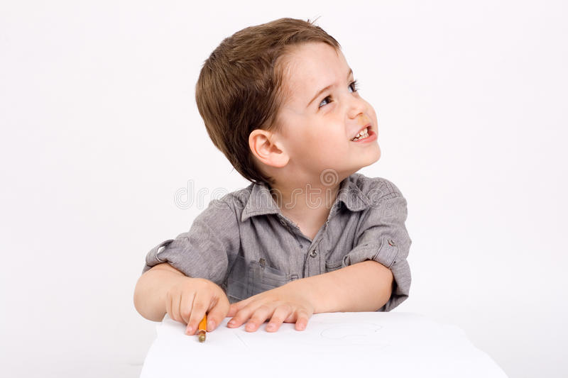 Download Boy Which Drawing Of Pencil Stock Image - Image: 19864681
