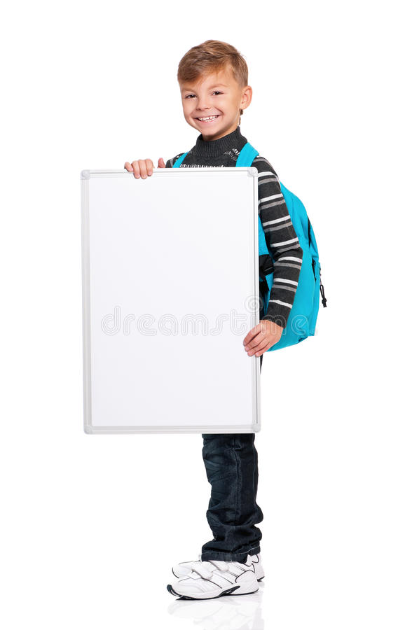Download Boy With White Board Stock Images - Image: 28691704