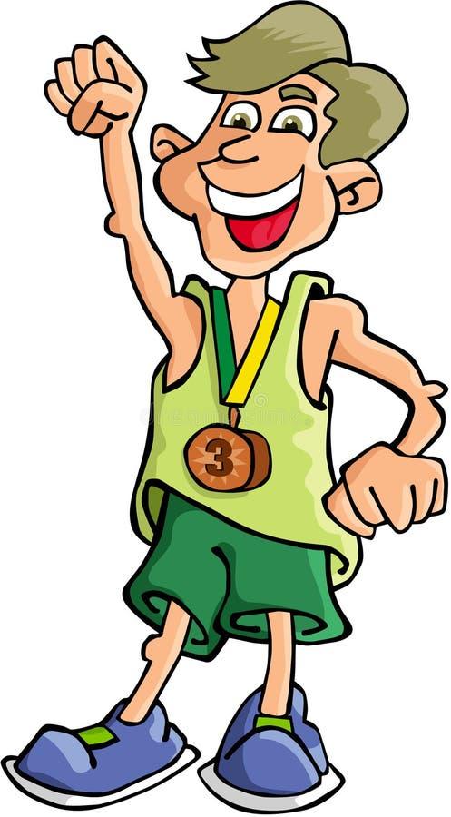 Download Boy Winner stock vector. Image of model, drawing, sportiest - 1423405