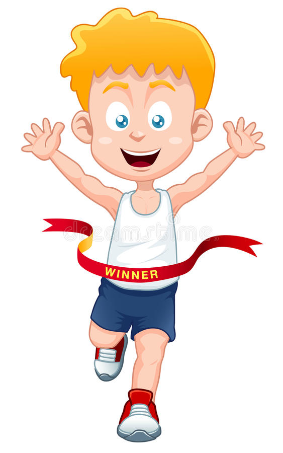 Boy The Winner Royalty Free Stock Images