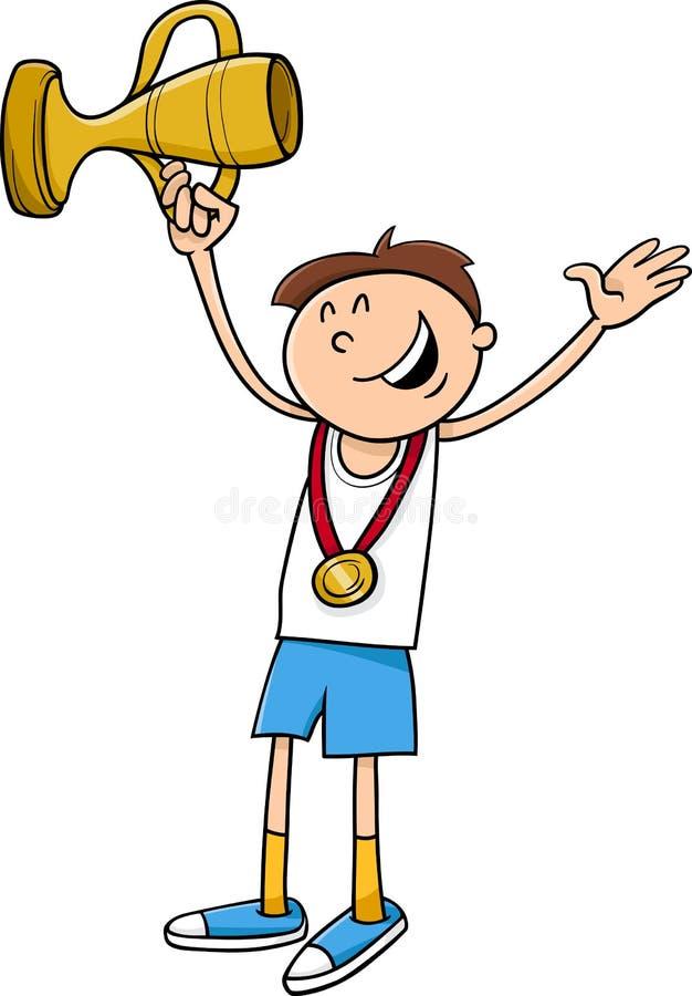 Boy Winner Cartoon Illustration Stock Vector ...