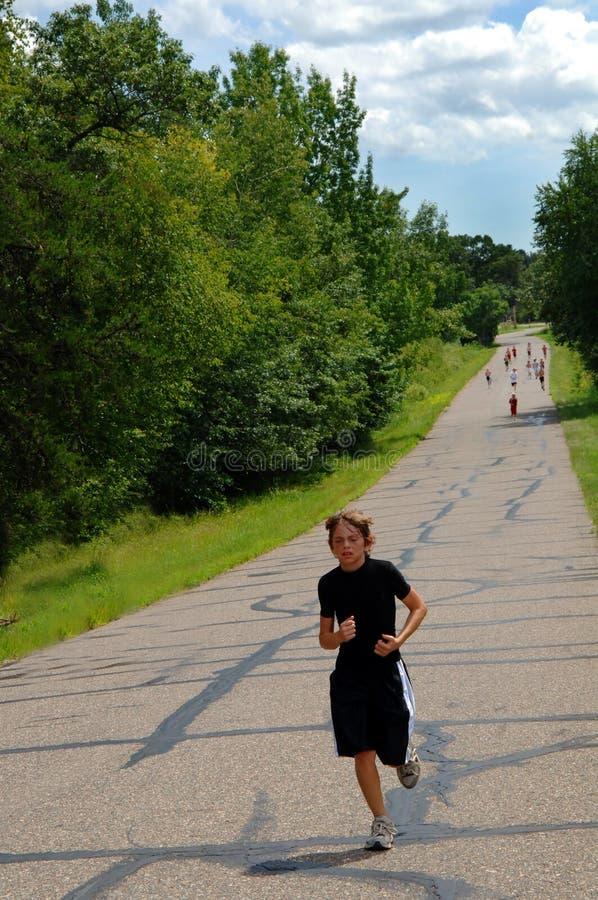 Download Boy winning marathon race stock image. Image of marathon - 5932539
